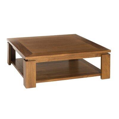 Table basse double plateau 90x90cm en teck - QALIDA
