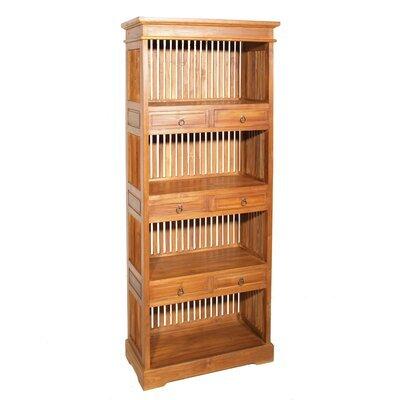 Bibliothèque 6 tiroirs en teck - QALIDA