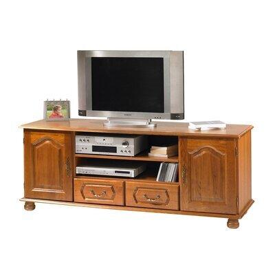 Meuble TV 2 portes 2 tiroirs en chêne - QUIMPER