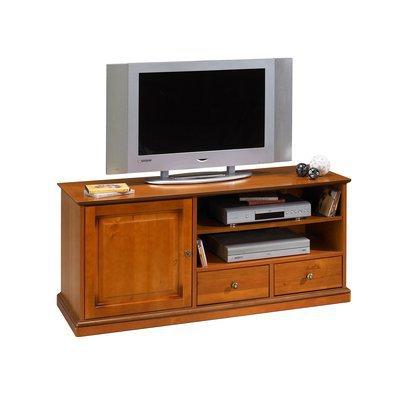Meuble TV 1 porte et 2 tiroirs en merisier - FLORIE