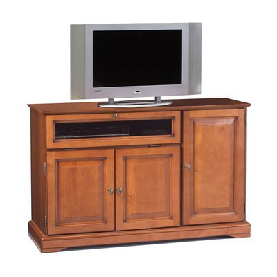 Meuble TV hifi 3 portes en finition merisier - FLORIE