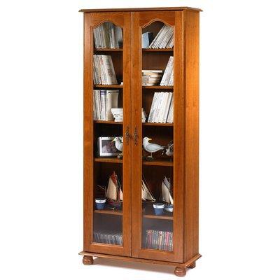 Bibliothèque 2 portes vitrées en chêne - QUIMPER