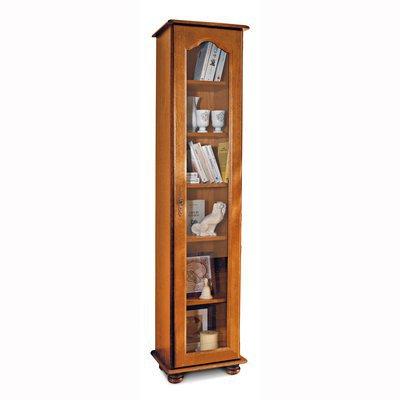 Bibliothèque 1 grande porte vitrée en chêne - QUIMPER