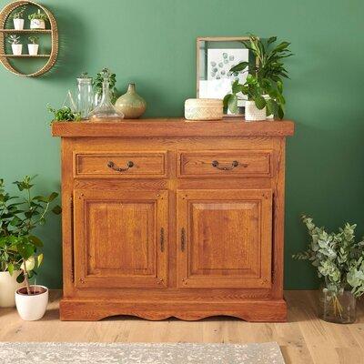 Bahut 2 portes et 2 tiroirs en chêne moyen - HELENE