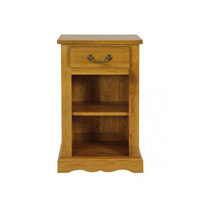 Chevet 1 tiroir 1 niche en chêne moyen