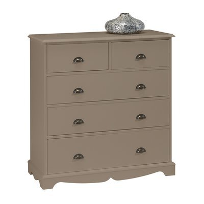 Commode 5 Tiroirs Taupe