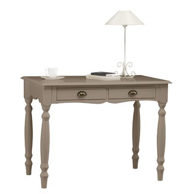 Table à écrire 2 tiroirs taupe charme - AUTHENTIC TAUPE