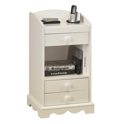 Meuble d'entrée ou meuble pour téléphone blanc - AUTHENTIC BLANC