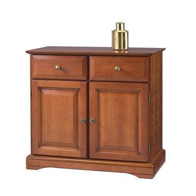 Buffet 2 portes 2 tiroirs en finition merisier - FLORIE