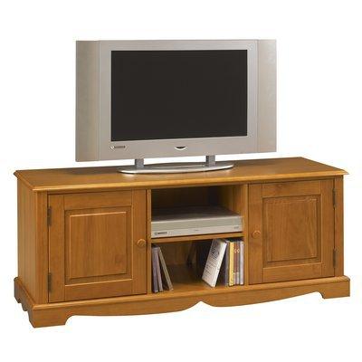 Meuble TV Pin Miel de Style Anglais