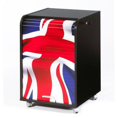 Classeur rideau coulissant london noir