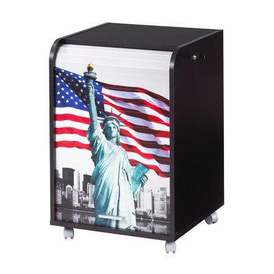 Caisson  tiroir + rideau new york coloris noir