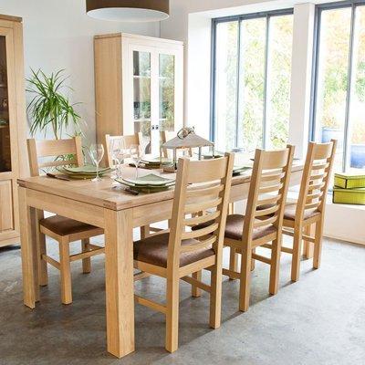 Table à allonges 200 cm en chêne clair - SOPHIE