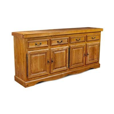 Bahut 4 portes et 4 tiroirs en chêne moyen - HELENE
