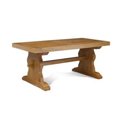 Table d'Abbaye avec pied lyre 180 cm en chêne moyen - HELENE