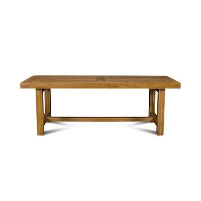 Table de ferme avec pieds carrés 220 cm en chêne moyen - HELENE