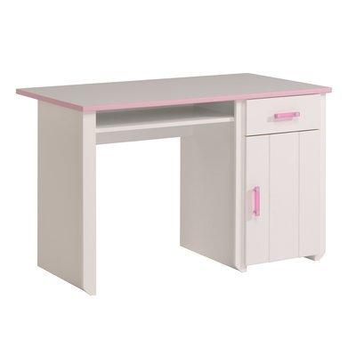 Bureau coloris blanc et rose indien
