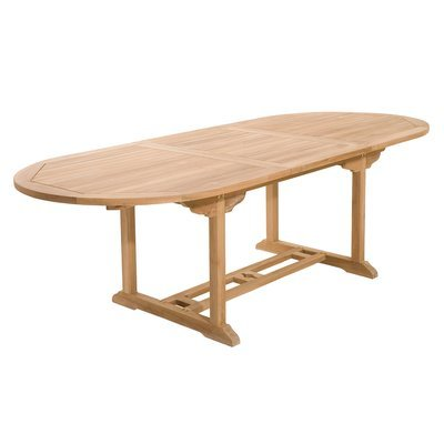 Table ovale extensible 180 cm en teck