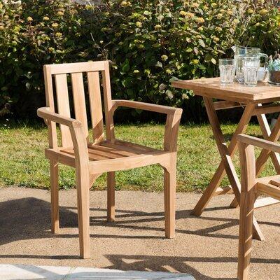Lot de 2 fauteuils en teck empilables - GARDENA