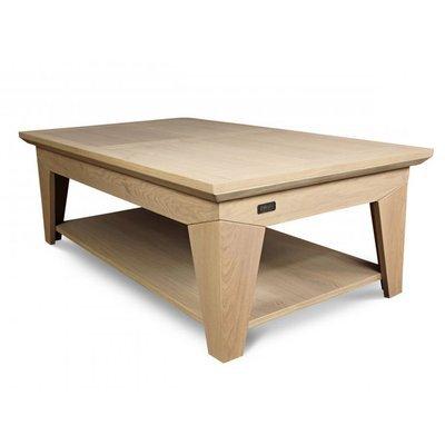 Table basse moderne en chêne coloris amande