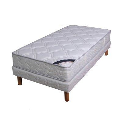 Ensemble matelas ressorts ensachés - grand confort luxe ferme 90x190cm + sommie