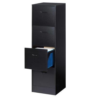Classeurs à tiroirs dossiers suspendus hauteur 140 cm - noir