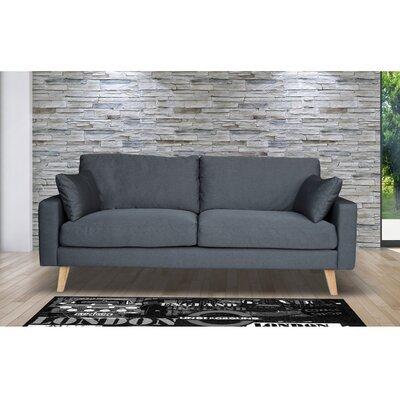 Canapé 3 places fixe en tissu gris - ALTA