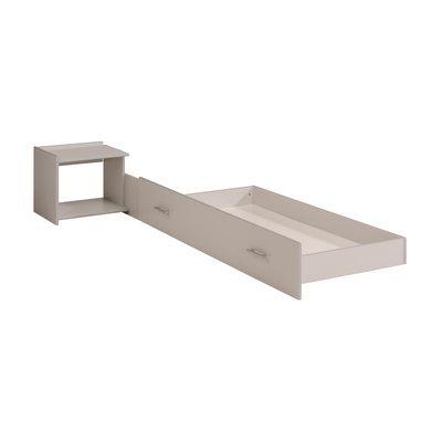 Tiroir + table de chevet 201x109x39cm coloris gris