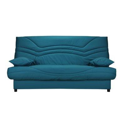 Banquette-lit clic-clac 130cm 26kg, motif bleu canard