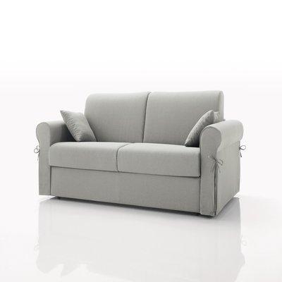 Canapé convertible 2 places, tissu déhoussable - taupe