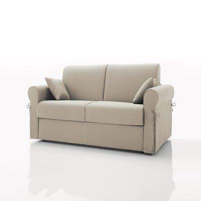 Canapé convertible 2 places, tissu déhoussable - écru