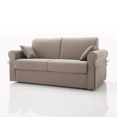 Canapé convertible 2 places maxi, tissu déhoussable - beige