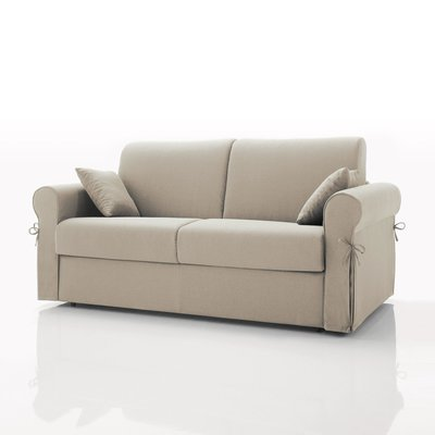 Canapé convertible 2 places maxi, tissu déhoussable - écru