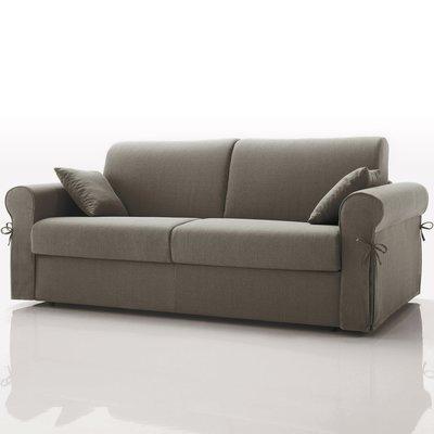 Canapé convertible 3 places maxi, tissu déhoussable - gris