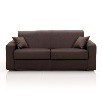 Canapé 3 places fixe, tissu déhoussable - chocolat
