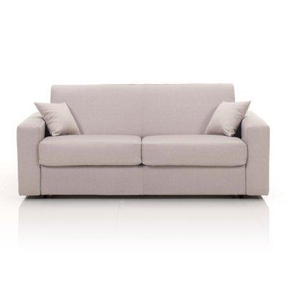 Canapé 3 places fixe, tissu déhoussable - beige