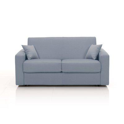 Canapé convertible 2 places, tissu déhoussable - gris