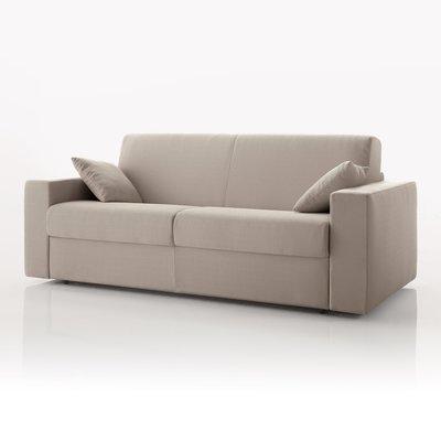 Canapé convertible 3 places, tissu déhoussable - ivoire
