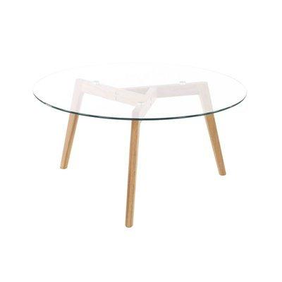 Table basse ronde plateau verre diamètre 90 cm - SCANDINO