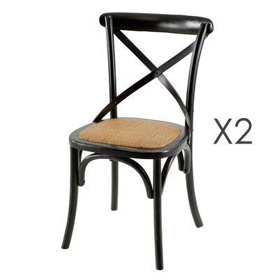 Lot de 2 chaises coloris noir - BISTRONO