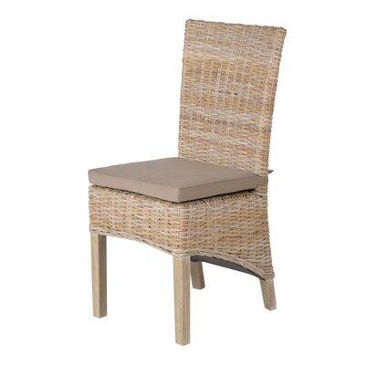 Lot de 2 chaises en kubu pieds teck teinté lin - SUCCESS