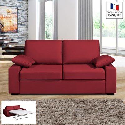 Canapé 2 places convertible 14cm coloris griotte PLUTON