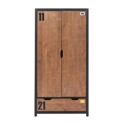 Armoire 2 portes 100x55x200 cm marron - BORY