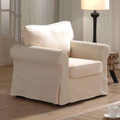 Canapé fauteuil fixes ecru JAIPUR