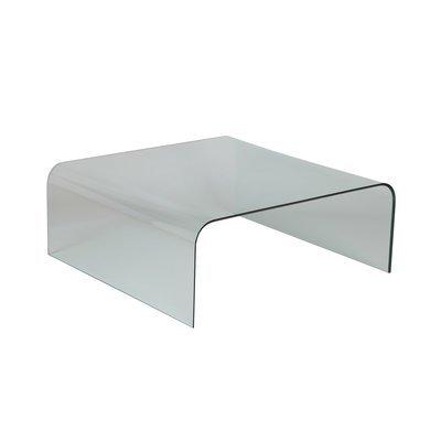 Table basse carrée 104 cm en verre trempé - GLASS