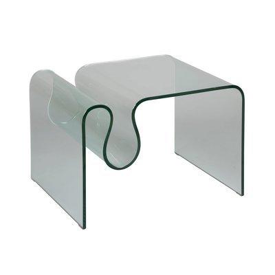 Table basse porte-revues en verre trempé - GLASS