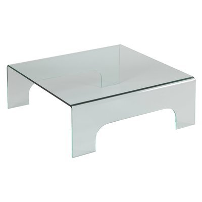 Table basse carrée 90x90 cm en verre trempé - GLASS