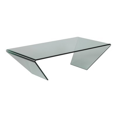 Table basse rectangulaire 120x65x36 cm - GLASS