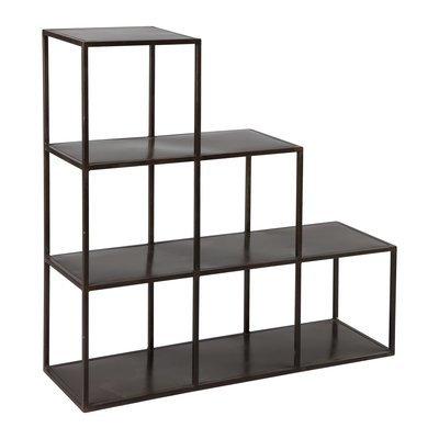 Etagère escalier en acier coloris noir ATELIER METAL