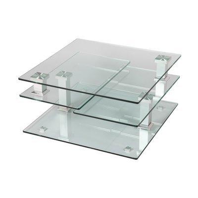 Table basse carrée 80 cm en verre - GLASS